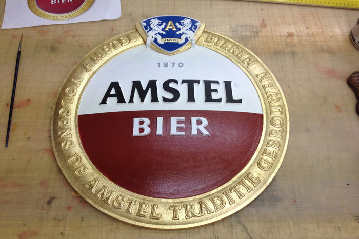 3D Amstel bier reclame bord sign